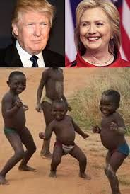 Third World Kid Meme - donald trump hillary clinton and third world kids blank template