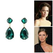 emerald green earrings emerald post earrings emerald green stud