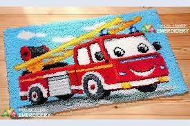 3d latch hook rug kits diy needlework unfinished crocheting
