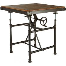 industrial patio furniture square dining table