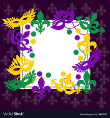mardi gras picture frame mardi gras frame place for your text vector image