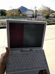 r retrobattlestations portable week ibook g3 at a caltrain station
