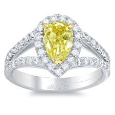canary engagement rings pear canary yellow engagement ring