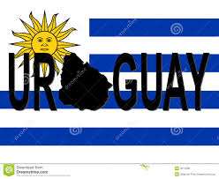 Flag Uruguay Uruguay Text With Map Stock Vector Illustration Of Flag 4011096
