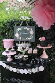 Pink And Black Candy Buffet by 238 Best Glam Parties Black White Images On Pinterest