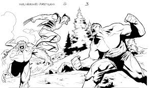 wolverine vs hulk by clayton henry on deviantart lineart hulk