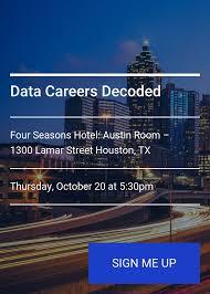 data careers decoded splash