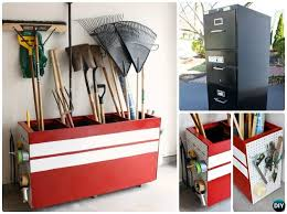 Diy Garden Tool Storage Ideas Diy File Cabinet Garden Tool Storage Box Diy Garden