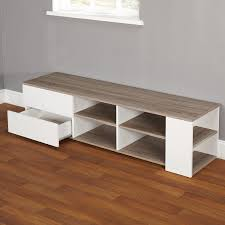 Grey Walls Wood Floor by Furniture Reclaimed Wood Tv Stand With Shelves Plus Wooden Floor