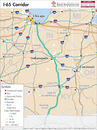 Map Of United States With Interstates by I 65 U2014 Mid America Freight Coalition