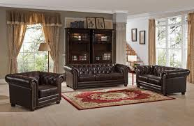 Chesterfield Sofa Dimensions by Amax Kensington Top Grain Leather Chesterfield Sofa U0026 Reviews