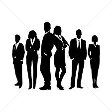 World Map Silhouette Business People Silhouette Against World Map Vector Image