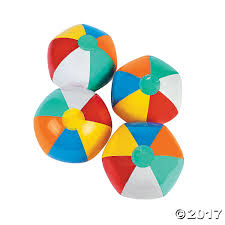 Beach Color by Inflatable Six Color Beach Balls