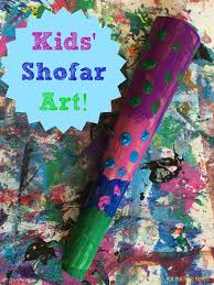 kids shofar yom kippur shofar kids craft yom kippur tissue paper and craft