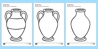Greek Vase Images Design A Greek Pot Decorate A Greek Vase Greek Vase Template