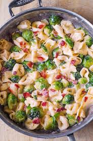 tortellini with bacon and brussels sprouts s album