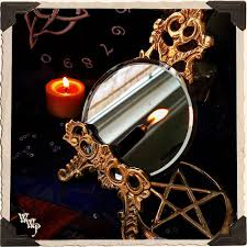 mini scrying mirror occult divination u0026 fortune telling black