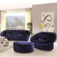 rent to own xnron cradle design royal blue velvet tufted living