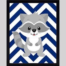 Raccoon Nursery Decor Woodland Forest Animals Baby Boy Nursery From Dezignerheartdesign