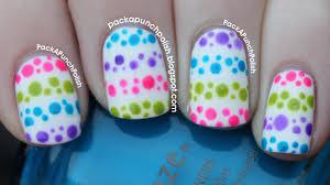polka dot stripes nail art tutorial youtube