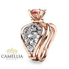 diamond bridal sets unique two tone gold engagement rings 14k diamond bridal set ring