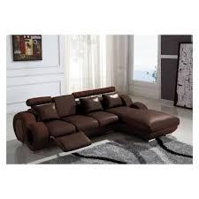 canapé d angle en cuir marron canapé d angle cuir relax marron vilnus achat vente canapé