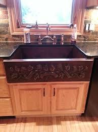 TwoTone Leaf Banner Copper Farmhouse Sink Copper Sinks Online - Copper farmhouse kitchen sink