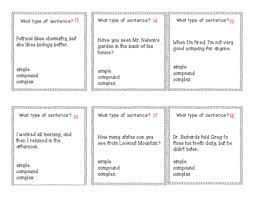 simple compound and complex sentence task cards by polka dots in