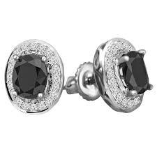 black diamond earrings studs black diamond halo earrings bijoux majesty