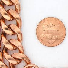 solid copper chain bracelet images Solid copper heavy duty cuban curb link bracelet chain bc79 men 39 s jpeg
