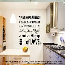 a pinch of patience vinyl lettering kitchen wall stickers kitchen a pinch of patience vinyl lettering kitchen wall stickers kitchen quote decals ebay