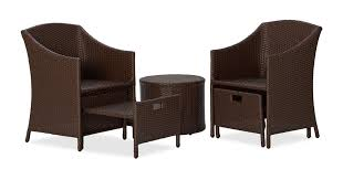 black wicker patio furniture adds sophistication to the patio Wicker Reclining Patio Chair