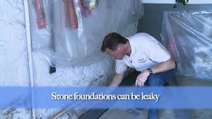 how to waterproof leaky stone foundations youtube