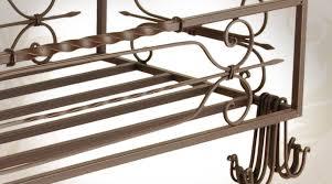 étagère en fer forgé pour cuisine etagère de plafond suspendue en fer forgé