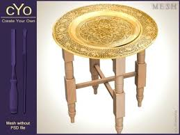 moroccan tea table stand moroccan tray table tea table with tray 3 meshes materials textures