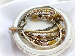 bracelet jewelry designs images Czech glass indonesian glass cream gold brass metal bracelet JPG