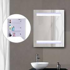Bathroom Mirror Cabinet With Lights by Medicine Cabinets Ebay