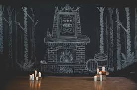 wedding backdrop chalkboard masculine indoor wedding feature hton design