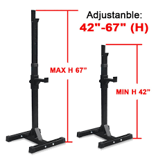 amazon com f2c pair of adjustable rack sturdy steel squat