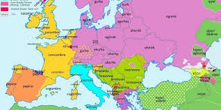 map use european maps showing origins of common words business insider