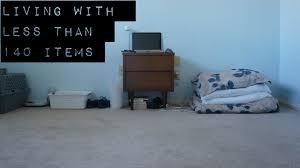 everything i own extreme minimalism youtube