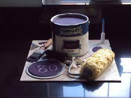 Cake I Made For My Uncle Alan U0027s 80th Birthday He Was A Painter