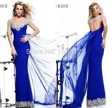 tarik ediz v neck cap sleeve backless dresses 2017 long royal blue