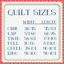 charts quilt size chart from sassy quilter go to site for