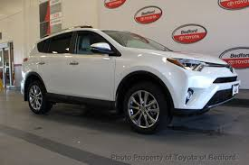 toyota rav4 2017 used toyota rav4 limited awd at toyota of bedford serving