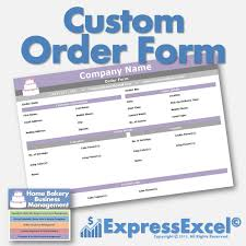 cake order cake cupcake and cookie decorating business printable order