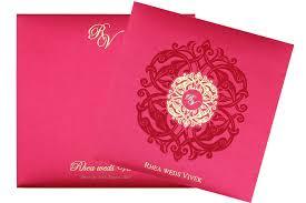 and in wedding card designer wedding card in fuchsia antique golden colour