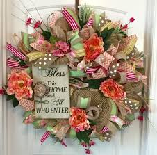 spring wreaths for front door wreath for front door summertime decor religious wreath