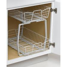 16 astuces pour un gain de place dans votre petit chezvous kitchen white blind corner kitchen storage white painted metal double folding holder storage netting double screw