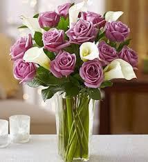 Calla Lily Bouquets Purple Rose And White Calla Lily For Sympathy